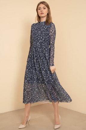 D-Paris Kadın Çiçekli Şifon Elbise