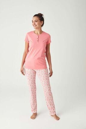 Mod Collection Kadın Pembe Patlı Pijama Takım