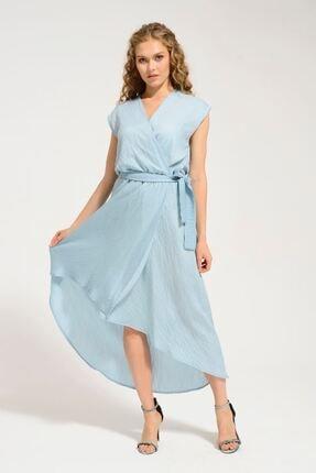 Batik Kadın Mavi Kısa Kol Elbise