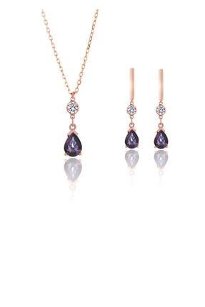 Azuris Silver Kadın Azuris 925 Ayar Gümüş Mistik Taş Set ALK7010