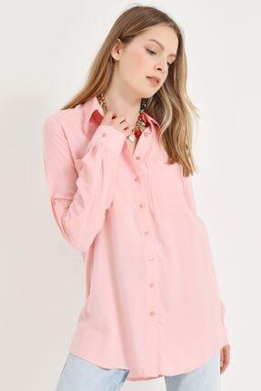 Home Store Kadın Pembe Gömlek 20230093072