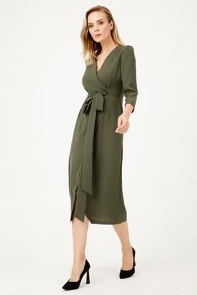 Moda İlgi Kadın Haki Kruvaze Elbise