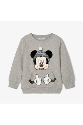 name ıt Unisex Çocuk Gri Kışlık Disney Lisanslı Sweatshirt