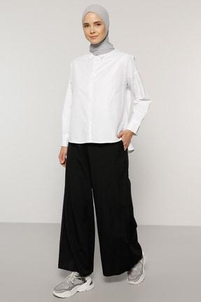 Benin Kadın Siyah Geniş Paça Pantolon 1735480