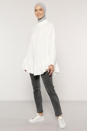 Benin Kadın Beyaz Volanlı Bluz 1635710