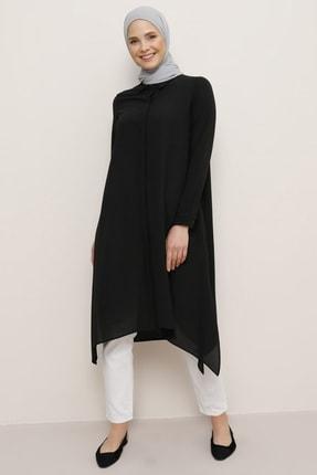 Everyday Basic Kadın Siyah Gizli Düğmeli Tunik 1484192