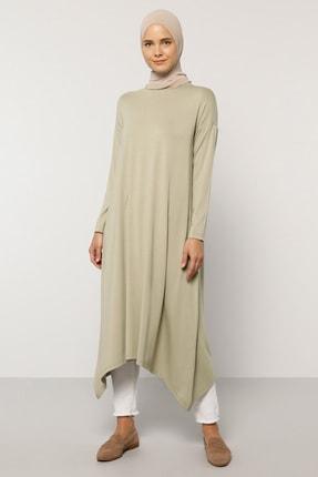 Everyday Basic Kadın Yeşil 115 cm Doğal Kumaştan Asimetrik Tunik 1509666