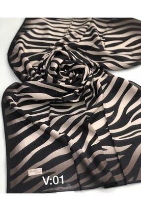 Armine Zebra Desen Organik Modal Şal