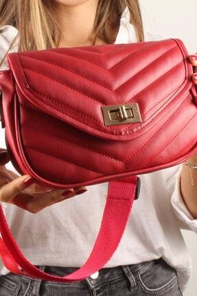 Luwwe Bag's Kadın Kırmızı Bez Askılı Omuz Çantası