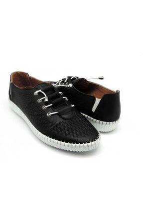 Delta Kadın Siyah Günlük Deri Rahat Ayakkabı