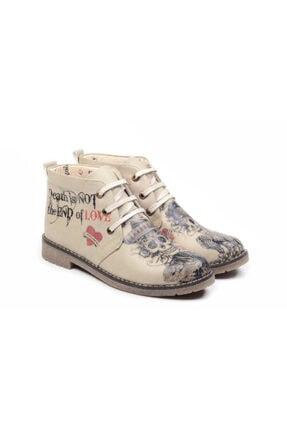 Goby Unisex Özel Tasarım Kuru Kafalar Desenli Ayakkabı