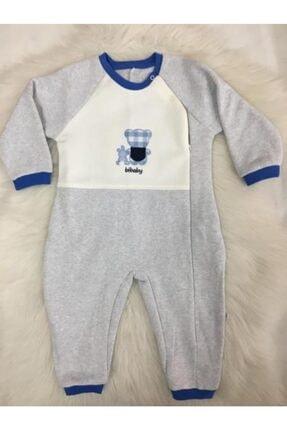 Bibaby Erkek Bebek Ayılı Uyku Tulumu Pamuklu Fermuarlı