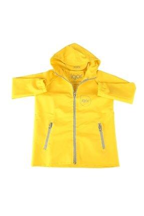 IGOR Unisex Çocuk Sarı Kapşonlu Yağmurluk