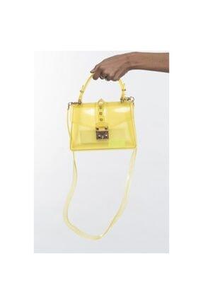 Matthew Cox Kadın Sarı Şeffaf Çapraz Çanta