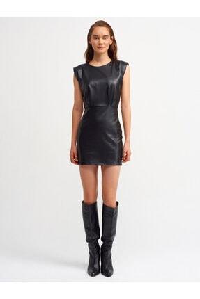 Dilvin Kadın Siyah Vatkalı Kolsuz Elbise 9080