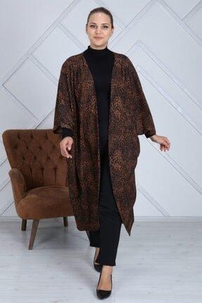 Seamoda Kadın Leopar Desen Tesettür Ceket