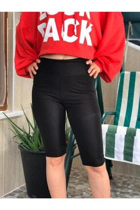 Deppoist Kadın Siyah Fitness Kısa Tayt