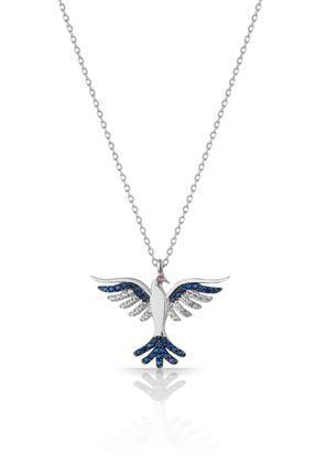 Azuris Silver 925 Ayar Gümüş Zümrüdü Anka Kuşu Kolye Dsrcha1151