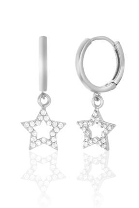 Azuris Silver 925 Ayar Gümüş Taşlı Yıldız Küpe Dsrcha2096