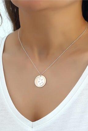 Azuris Silver 925 Ayar Gümüş Ay Ve Yıldızlar Kolye Dsrcha1161