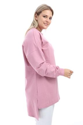 Big Free Kadın Gül Tunik Sweat Bis Yaka Bcs Tb21Kb258580