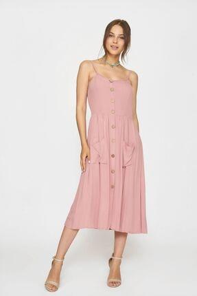 Batik Kadın Pembe Düz Casual Elbise Y42819 Dkm