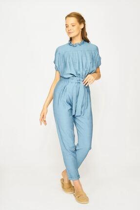 Batik Kadın Mavi Düz Casual Pantolon