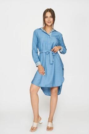 Batik Kadın Mavi Düz Casual Tunik