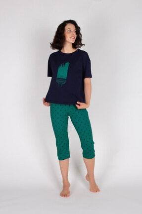 Hays Kadın Yeşil Kapri Pijama Takımı