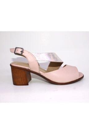 Kadın Pudra  Deri Rengi Topuklu Ayakkabı 603632