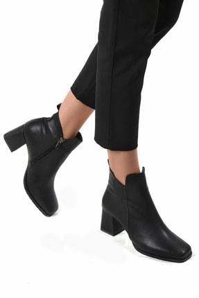 Sapin Kadın Siyah Topuklu Bot 33601