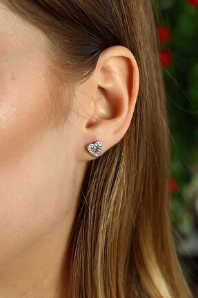 Azuris Silver Kadın 925 Ayar Gümüş Kalp Küpe OMR2119