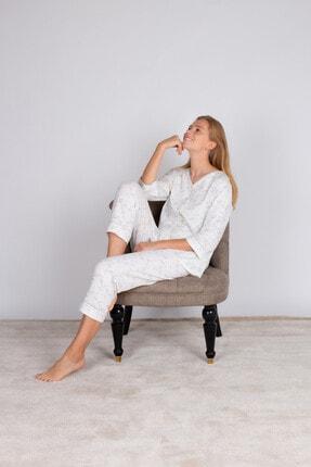 Hays Kadın Yeşil Büyük Beden Uzun Pijama Takımı