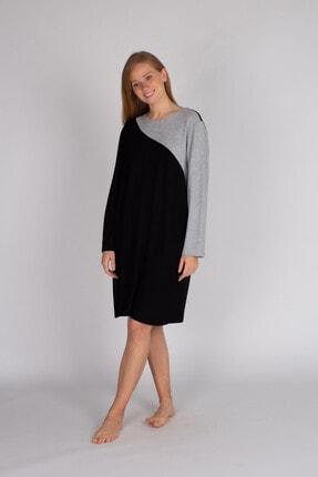 Hays Kadın Siyah Büyük Beden Triko Elbise
