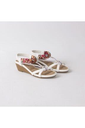 Guja Kadın Beyaz Taşlı Sandalet