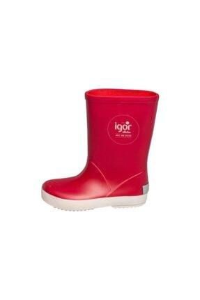 IGOR Unisex Çocuk Kırmızı Splash Nautico  Çizme 10107