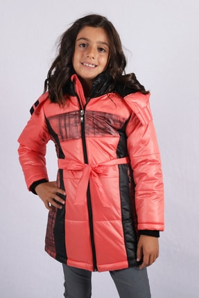 Milan Kız Çocuk Mercan Mont Kaban Kürk Astarlı
