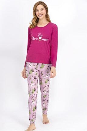 Arnetta Kadın Mat Gül Kurusu Pijama Takım 946