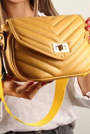 Luwwe Bag's Kadın Sarı Bez Askılı Omuz Çantası (20395)