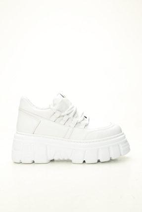 Ayakkabı Modası Kadın Beyaz Yüksek Taban Casual Ayakkabı