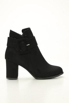 Ayakkabı Modası Kadın Siyah Kısa Arkadan Püsküllü Bot