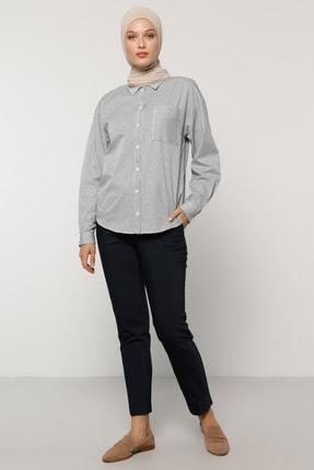 Refka Kadın Lacivert Dar Paça Pantolon 1704320