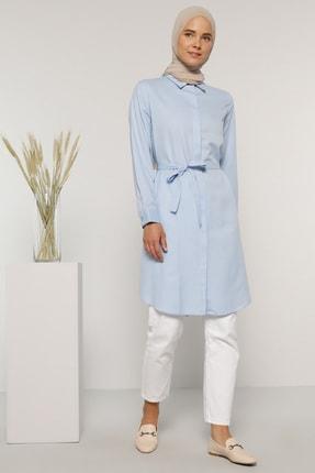 Everyday Basic Kadın Mavi Gizli Düğmeli Tunik 476878
