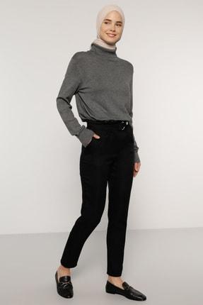 Benin Kadın Siyah Beli Tokalı Pantolon 1693668