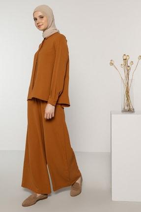 Benin Kadın Camel Tunik&Pantolon İkili Takım 1694007