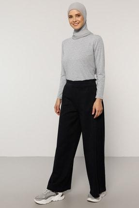 Everyday Basic Kadın Lacivert Doğal Kumaşlı Beli Lastikli Pantolon 1686909
