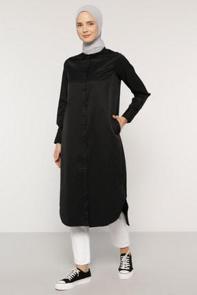 Everyday Basic Kadın Siyah Boydan Düğmeli Tunik 1688229