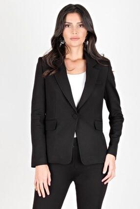 Spazio Kadın Siyah Jasmine Kruvaze Tek Düğme Ceket 10091311