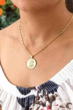 Azuris Silver 925 Ayar Gümüş Singapur Zincir Madalyon Fatih Kolye Dsalk1683