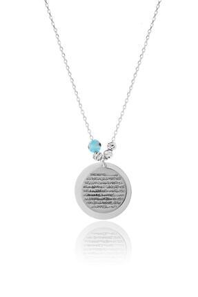 Azuris Silver 925 Ayar Gümüş Ayetel Kürsi Kolye Dsalk1711